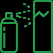 Dye penetration test icon