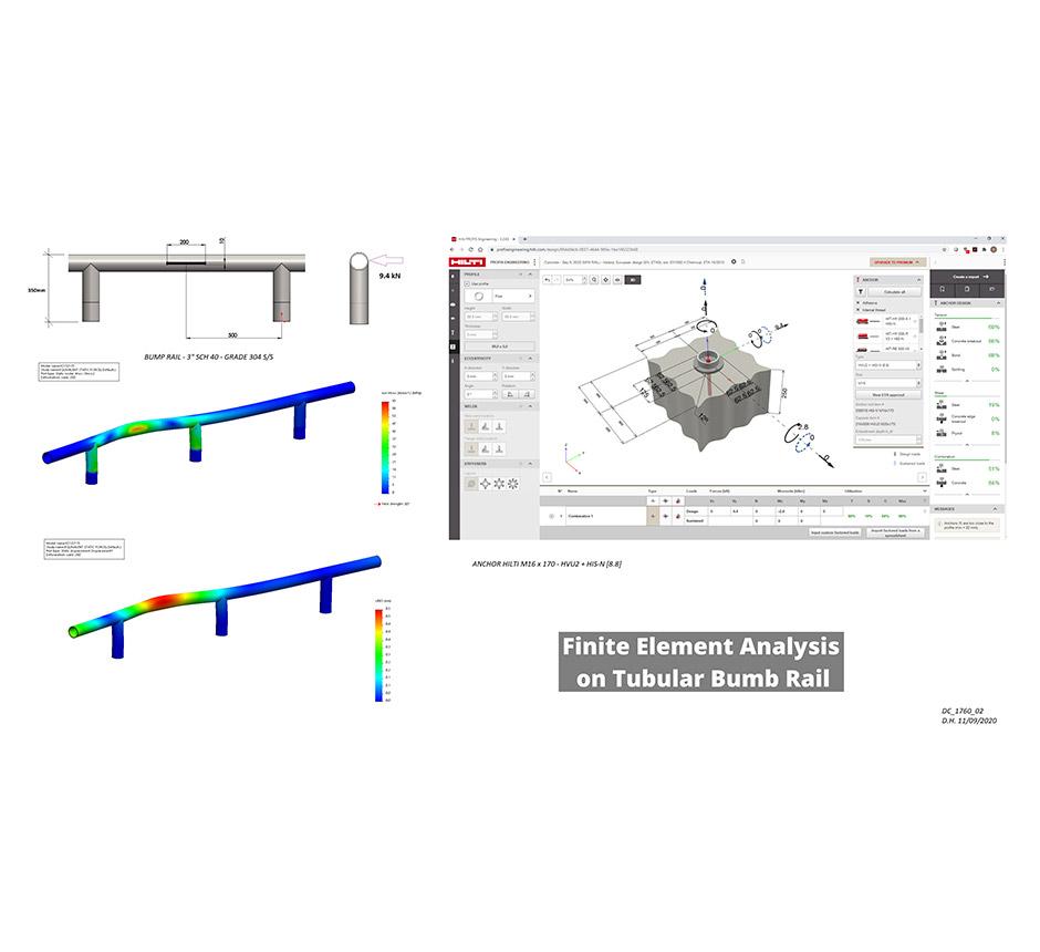 Finite element analysis on a tubular bumb rail